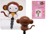 Sanrio Hello Kitty Earphones  Headphones Cap Topper :Monkey