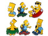 Simpson Family Bart Pin Badge Set - 6pc