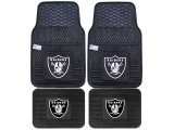 Fanmats Oakland Raiders Car Floor Mats 4pc Set
