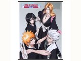 Bleach Anime Wall Scroll Poster Group Ichigo Toshiro Rangiku Rikia (GE5875)