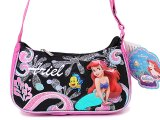Disney Little Mermaid Ariel Purse Hand Bag :Pink Black