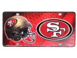 NFL San Francisco 49ers Metal License Plate