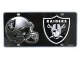 NFL Oakland Raiders Metal License Plate