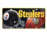 NFL Pittsburgh Steelers  Metal License Plate