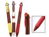 Domo Kun 3 Colored Ball Point Pen Set : Black , Red , Blue Ink