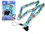 Disney Mickey Mouse Lanyard KeyChain with ID Pocket