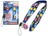 Marvel Heroes Captain America Shield Lanyard KeyChain with ID Pocket