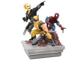 Marvel Heroes Deluxe Paperweight Group Resin Statue (Spider-Man, Ghost Rider, Wolverine)