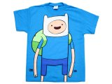 Adventure Time Finn and Jake Finn Kids T-Shirt - Large