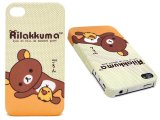 San X Rilakkuma  Apple i Phone 4G Case -Hard Case Polka Dots