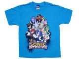 Sonic the Hedgehog Gorup Kids  T-Shirt : Youth X- Large