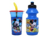 Disney Mickey Mouse and Pluto Drinking Bottle Tumbler Set -2pc