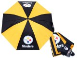NFL Pittsburgh Steelers Auto Retractable Umbrella -38""