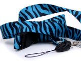 Zebra Black & Blue Animal  Key Chain  ID Holder Lanyard