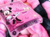 "Disney Minnie Mouse Raschel Plush Blanket 60"" x 80"" -Pink Bow"
