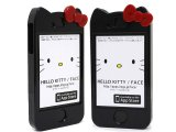 Sanrio Hello Kitty Apple i Phone 4 4S Case -Armor Shell Case with Red Bow