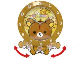 San X Rilakkuma Animated Clock / Swing Wall Clock