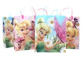 Disney Tinkerbell Fairies Party Gift Bag Set  6pc Plastic/Reusable