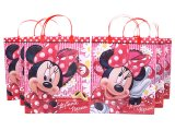 Disney Minnie Mouse Party Gift Bag Set  6pc Plastic/Reusable