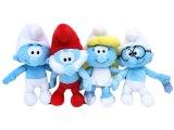 The Smurfs ,Brainy , Smurfette , Papa Smurf  Plush doll Set -13in