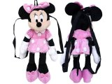 Disney Minnie Mouse Kids Plush Backpack- Microfiber Pink 21in XL