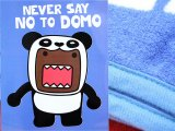 Domo Kun Microfiber Plush Throw Blanket :Never Say No to DOMO Panda (50x60)