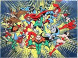 DC Comic Heroes Microfiber Plush Throw Blanket : (50x60)