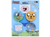 Adventure Time Finn & Jake4pc Button Pack , Pin
