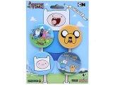 Adventure Time Finn & Jake4pc Button Pack , Pin