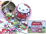 Sanrio Hello Kitty Mini Tin Ball Jigsaw Puzzles 50pc , 5in x 7in