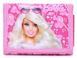 Barbie Pink Jewels  Kids Wallet Trifold  Velcro Wallet