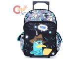 Phineas and Ferb Agent P School Roller Backpack :Large 16in Pow Perry