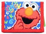 Sesame Street Elmo Kids Wallet Trifold  Velcro Wallet