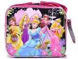 Disney Princess w/ Tangled School Lunch Bag : Black Pink