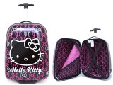 Hello Kitty Rolling Luggage ,Trolley Bag, Hard Suit Case :Block Pink Bows