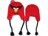 Rovio Angry Birds Space  Red Bird Knitted Lapland Hat : Beanie with Ear Flap (Kids to Adult )