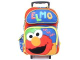 Sesame Street Elmo School Roller Backpack 16in Large Rollling Bag Ha Ha