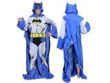 Batman Hooded Cozy Fleece  blanket with Sleeves : Adult Size