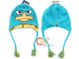 Phineas and Ferb Perry Agent P Plush Laplander Hat Beanie with Ear Flap (Teen-Adult)