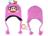 Paul Frank Pink Knitted Laplander Hat  Beanie with Ear Flap (Junior)
