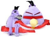 Rovio Angry Birds Space Lazer Purple Bird Plush Doll Backpack -(Kids to Adults)