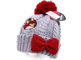 Angry Birds Red Birds Chunky Knit Beanie with Furry Ball