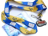 Adventure Time Finn & Jake  Lanyard , ID Holder with Charm