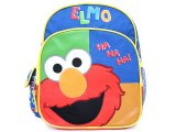 "Sesame Street Elmo School Toddler Backpack 10"" Mini Bag -HaHa Big Face"