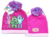 Yo Gabba Gabba Kids Beanie Knitted  Hat with Furry Ball