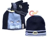Batman Face Kids Beanie  Gloves Set - Reversible