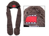 Domo kun Spirit Hood Plush Hat with Mittens Pokect Scarf