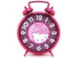 Sanrio Hello Kitty Pink Leopard Bell Alarm Clock Wall Clock - 13in