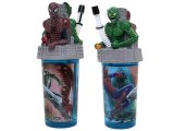 Marvel Spiderman With Monster 3D Topper Tumbler  Drink Bottle