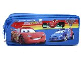 Cars Mcqueen  Pencil Case  2 Zipppered Bag Pouch with Francesco -Blue